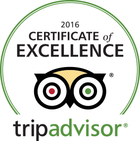 Certificate of Excellence 2016 Tripadvisor Vacation Rental